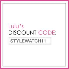 "From Nov. 13 to Jan. 8, enter ""STYLEWATCH11"" at checkout for a 20% site-wide discount. #StyleHunters"