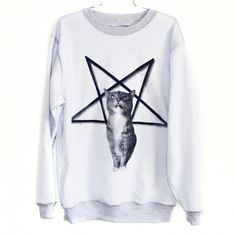 Lucifurr sweatshirt by burgerandfriends on Etsy