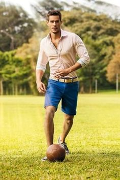 Stay classy and active this #Summer whit a button down shirt and shorts. From the field to dinner, #LookGreat!