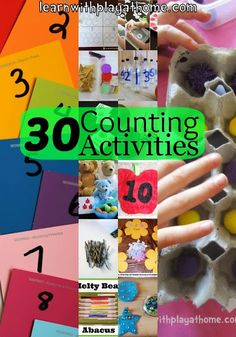 Learn with Play at home: 30 Counting Activities for Kids