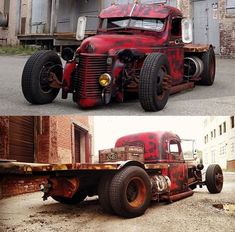 Enjoy this gallery of really cool Rat Rods. Rat Rod Cars, Hot Rod Trucks, Cool Trucks, Big Trucks, Cool Cars, Custom Rat Rods, Custom Trucks, Custom Cars, Classic Trucks