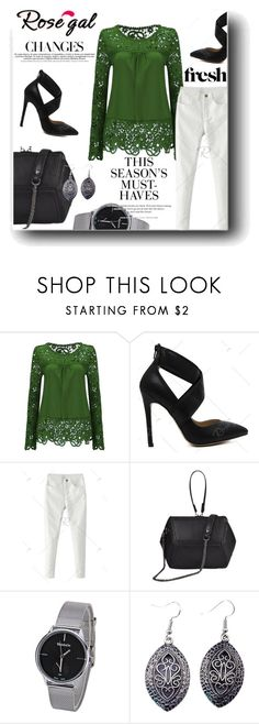 """Rosegal"" by snezanamilunovic ❤ liked on Polyvore featuring H&M"