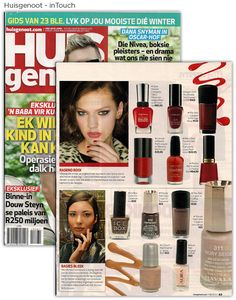 inTouch exposure in Huisgenoot. Beauty Industry, Salons, Magazine, Shit Happens, News, Fit, Lounges, Shape, Magazines