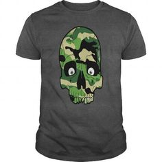 I Love Camouflage Skull T shirts