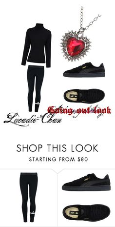 going out look by lucadie-chan on Polyvore featuring adidas, Puma, Hot Topic and Preen