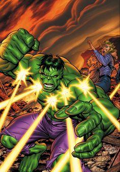 Hulk (Dr. Bruce Banner) (Savage Hulk persona) | art by Tom Grummett