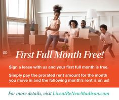 Yes, you read that right! If you sign a lease with us, your first full month of rent is free. Discover a Community Redefined® in Madison, WI. #IAmReNewed