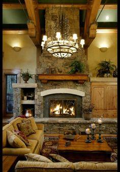 Edgewood Custom Log Homes - Style Estate Design Log Home Living, Living Room, Living Area, Log Cabin Homes, Diy Cabin, Log Cabins, Simple House, Rustic Design, Rustic Style
