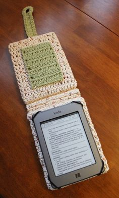 A crocheted case for your Kindle - cool! Pattern for sale on Etsy