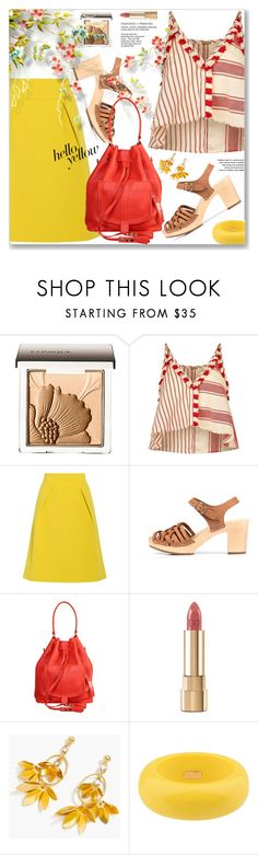 """Get Happy Vacation Style: Pops of Yellow"" by jecakns ❤ liked on Polyvore featuring Clinique, Dodo Bar Or, TIBI, Dolce&Gabbana, J.Crew and Dsquared2"