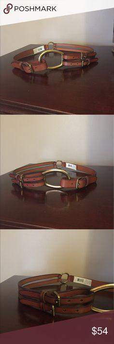 Ralph Lauren trendy belt Ralph Lauren trendy double buckle leather belt, size medium 40 inches long total. Ralph Lauren Accessories Belts