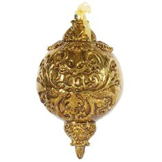 Antique Gold Ball Finial Ornament for Christmas Gone Wild