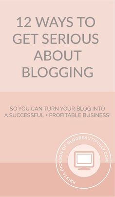 Ready to get serious about blogging, so you can turn your blog into a profitable…