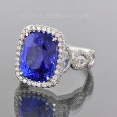 11.07 Ct. Natural Cushion Sapphire 041979/1003 | LeeBrant Jewelers