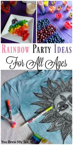 I am so in love with these great Party Ideas for a Rainbow Birthday Party or Adult Coloring Party!  Tons of ideas including our sponsor Colorwear!  #IC #Colorwear #Ad