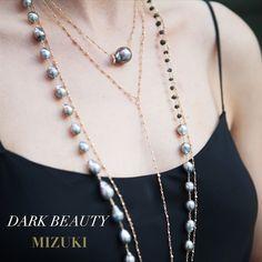 Happy #MizukiMonday! #Dark #Beauty #Tahitian #Pearls #gold #roughdiamonds…