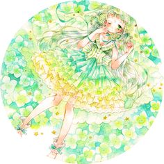 なんだかすごい久しぶりな投稿です…!  3月に色をテーマにした企画展「Dear My Color!!」で展示させて頂いていたイラストです。 私の担当カラーはコバルトグリーンでした!