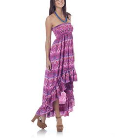 Take a look at this Raspberry Ruffle Hi-Low Dress by Classique on #zulily today!