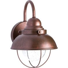Shop for Sea Gull Lighting Sebring Weathered Copper Outdoor Wall Lantern. Get…