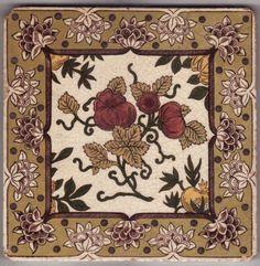 Victorian Ceramic Tile - 1860 to 1890