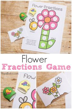 Practice fractions with a refreshing flowery spring theme. This flower fraction game is sure to entice kids to practice their fraction skills! Games For Fun, Math Activities For Kids, Math For Kids, Fun Math, Math Games, Number Activities, Math Math, Spring Activities, Kindergarten Math