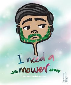 Aaronaitor: yo y mi barba #barba #beard #dibujo #ilustración #illustration #draw