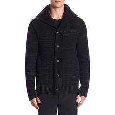 Vince Marled Button Wool Cardigan (825 BRL) ❤ liked on Polyvore featuring men's fashion, men's clothing, men's sweaters, mens cardigan sweaters, mens sweaters, mens wool cardigan sweater, mens woolen sweaters and mens wool sweaters