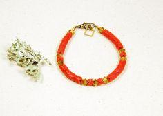 Red Mountain Snake Bracelet by GreenAntCollective on Etsy