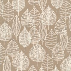 Eloise Renouf - Bark and Branch Canvas - Line Leaf Canvas in Khaki