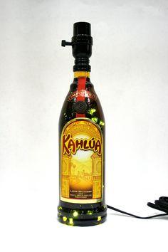 Lighted Liquor Bottle Lamp LED 4 Option By Jasonsimaginations, $45.00