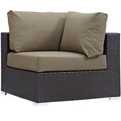 Modway Furniture Modern Convene Outdoor Patio Corner #design #homedesign #modern #modernfurniture #design4u #interiordesign #interiordesigner #furniture #furnituredesign #minimalism #minimal #minimalfurniture