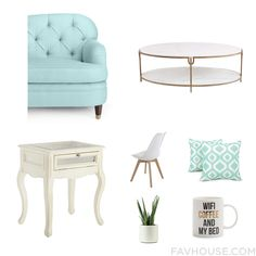 Home Decor Inspiration With Kate Spade Sofa Marble Top Coffee Table Pier 1 Imports Accent Table And White Furniture From August 2016 #home #decor