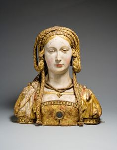 Reliquary Bust of Saint Balbina, ca. 1520-30, possible Belgian.  Contains the skull of Saint Balbina, an early virgin martyr of Rome.