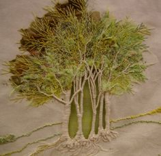 Absolutely ❤ it . . . Embroidered Trees, not CQ, but didn't have a board to put this in. ~By Francine Leclercq