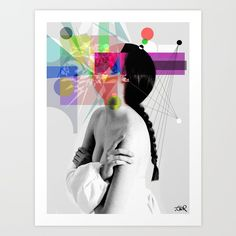 IN HER WORLDS Art Print