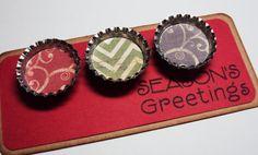 Cute, inexpensive gift idea! Season's Greetings Magnet Set Vintage by bowpeepcreations on Etsy, $5.00