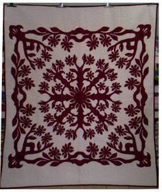 Click to enlarge Hawaiian Quilt Patterns, Hawaiian Quilts, Quilts Online, Quilting, Tapestry, Sewing, Ideas, Decor, Hanging Tapestry