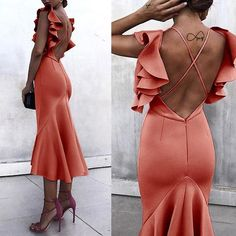 Sexy Backless Fishtail Bodycon Dress – Style is art Plus Size Maxi Dresses, Sexy Dresses, Fashion Dresses, Prom Dresses, Casual Dresses, Prom Dress Shopping, Online Dress Shopping, Short Beach Dresses, Summer Dresses