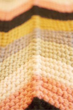 chevron colors in garter stitch