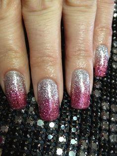 Gel nails ,glitter