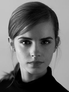 Emma Watson, who turns 25 on April 14 2015 } Sometimes, black and white pictures are more powerful than color.