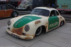 356 Rat Police Car #porsche Porsche Cars, Custom Porsche, Vintage Porsche, Classic Sports Cars, Abandoned Cars, Hot Cars, Porsche 356 Outlaw, Porsche 356 Speedster, Ferdinand Porsche