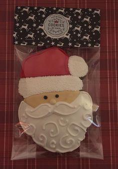 Ho Ho Ho Santa Royal Icing Gingerbread Cookies by @cookiesbykatewi #christmas #holiday #winter