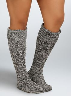 Plus Size Wide Calf Knee-High Boot Socks