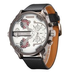 Exaggerated Large Big Watches Men Luxury Brand Unique Designer Quartz Watch Male Heavy Full Steel and Leather Strap Wrist Watch - Online Shopping for Watches