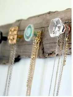 """Hi Jean! Thanks for following my """"handmade board""""!  Please check out my site too; Love this idea for handing necklaces! Very cool!!!"""