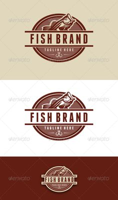 Fish Brand Logo Template  #GraphicRiver         Great fish brand Logo Template for your company