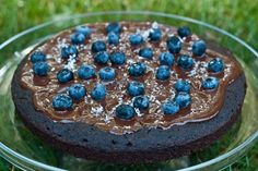 Blueberry Chocolate Glaze Cake  OhSheGlows