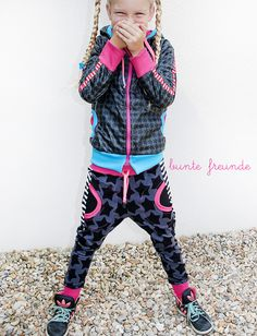 buntefreunde_farbenmix_staaars_jacke_jersey_hose_donna_Webband_Ribbons