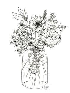Floral Arrangement Coloring Page